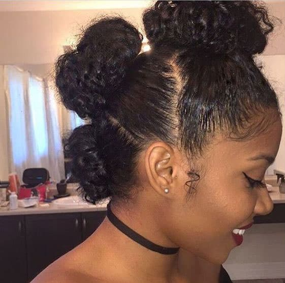 Bantu knots de protection
