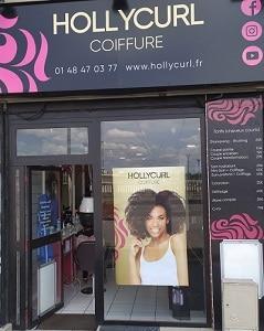 Devanture salon de coiffure Hollycurl à Noisy le Sec Seine Saint Denis