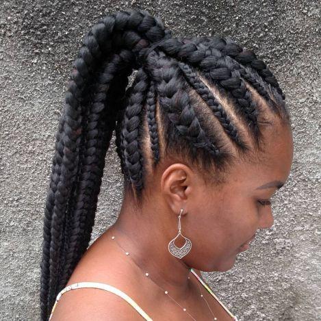 Box braids : les Goddess braids