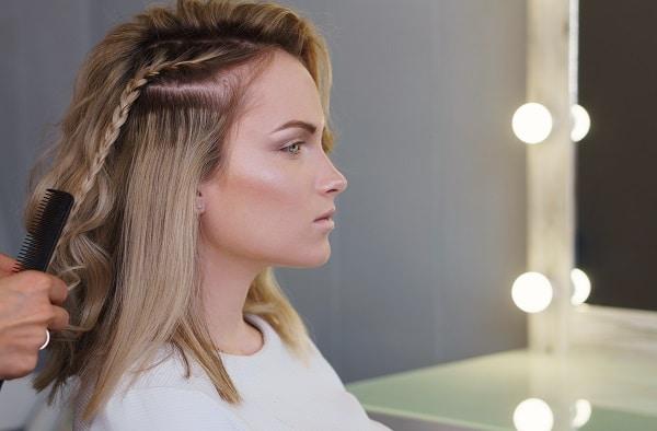 Tresse sur cheveux européens