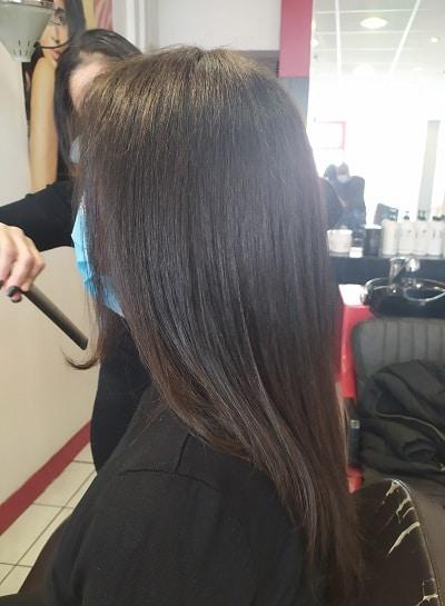 Brushing sur cheveux longs